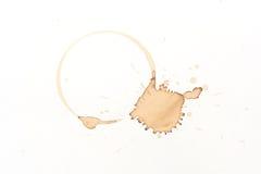 Koffievlek Stock Afbeeldingen