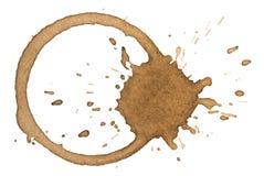 Koffievlek Royalty-vrije Stock Afbeeldingen