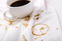 Koffievlekken royalty-vrije stock foto's