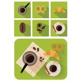 Koffievoorwerpen vector illustratie