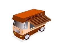 Koffievrachtwagen Stock Foto
