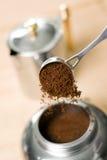 Koffiezetapparaat. royalty-vrije stock afbeelding