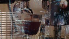 Koffiezetapparaat en interfacecodes stock video