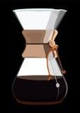 Koffiezetapparaat met Koffie Stock Afbeelding