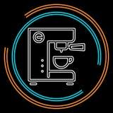 Koffiezetapparaatpictogram, koffiezetapparaatmachine royalty-vrije illustratie