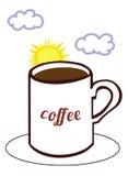 Koffiezonsopgang Royalty-vrije Stock Afbeeldingen
