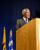 Kofi Anan speaking at seminar. Kofi Annan speaking at seminar Stock Photography