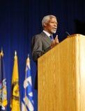 Kofi Anna die toespraak levert Royalty-vrije Stock Foto