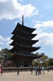 Kofoku-ji tempel Nara Japan Arkivfoto