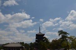 Kofoku-ji tempel Nara Japan Royaltyfri Fotografi