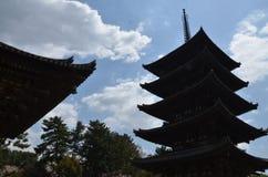 Kofoku-ji tempel Nara Japan Arkivfoton
