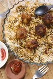 Kofta Biryani - A kofta based vegetarian biryani. Kofta Biryani - Kofta is a family of meatball or dumpling dishes in India. In the simplest form, koftas consist Royalty Free Stock Image