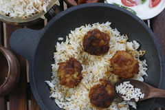 Kofta Biryani - A kofta based vegetarian biryani Royalty Free Stock Images