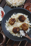 Kofta Biryani - A kofta based vegetarian biryani Stock Photo