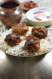 Kofta Biryani - A kofta based vegetarian biryani Royalty Free Stock Photography