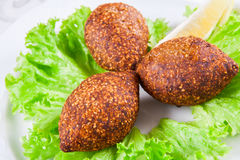 Kofta d'Icli Boulettes de viande avec le bulgur Image stock