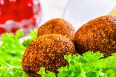 Kofta Icli Τουρκικό πιάτο Κεφτή Στοκ Εικόνες