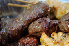 Kofta, Médio Oriente Kababs fotografia de stock