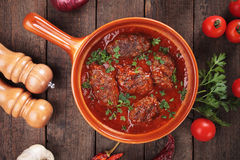 Kofta meatballs in tomato sauce Royalty Free Stock Photo