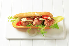 Kofta sandwich Stock Photography