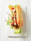 Kofta sandwich Stock Photos
