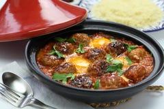 Kofta tajine, kefta tagine, moroccan cuisine Royalty Free Stock Photography