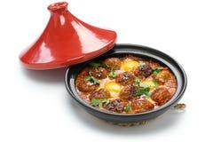 Kofta tajine, keftatagine, moroccan kokkonst Fotografering för Bildbyråer