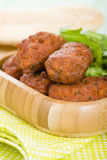 Koftas. Asian style meatballs served with salad and pita bread Royalty Free Stock Photo