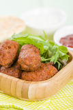 Koftas. Asian style meatballs served with salad and pita bread Stock Images
