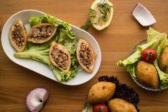 Kofte de Icli/falafel relleno de la albóndiga Foto de archivo libre de regalías