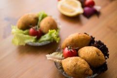 Kofte de Icli/falafel relleno de la albóndiga Imagen de archivo