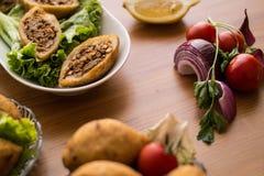 Kofte de Icli/falafel relleno de la albóndiga Fotos de archivo
