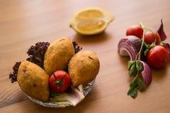 Kofte de Icli/falafel relleno de la albóndiga Foto de archivo