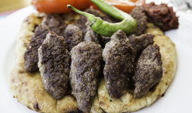 Kofte tradicional turco delicioso Foto de Stock Royalty Free