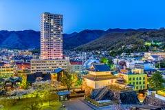 Kofu, Yamanashi, Japan. Downtown cityscape and tower Stock Image