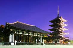 奈良,日本著名的寺庙  库存照片