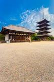 Kofuku-Ji östlig Hall Five Story Pagoda Blue himmel V Arkivbilder
