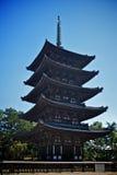 Kofuku-ji temple in nara, japan Royalty Free Stock Images
