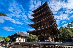 Kofuku-ji wooden tower in Nara, Japan. Royalty Free Stock Image
