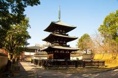 Kofukuji在奈良,日本 免版税库存照片