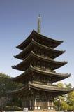 Kofukuji塔,奈良,日本 免版税图库摄影