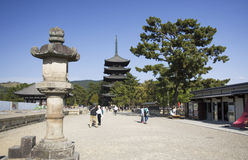 Kofukuji pagoda, Nara, Japan royalty free stock photography