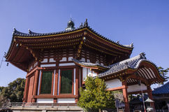 Kofukuji temple, Five-storied Pagoda at Nara, japan Royalty Free Stock Images