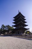 Kofukuji temple, Five-storied Pagoda at Nara, japan Stock Photo
