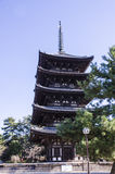 Kofukuji temple, Five-storied Pagoda at Nara, japan Stock Images