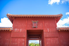 Kofukumon gate in Shurijo castle, Okinawa Royalty Free Stock Images