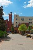 Kogan Plaza i den George Washington University universitetsområdet Arkivbilder
