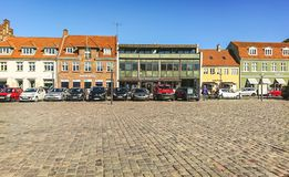 Koge, Denmark - September 25, 2018 - Well-preserved old houses in the center of Koge. royalty free stock photo