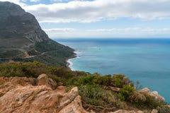Пляж залива Kogel, расположенный вдоль маршрута 44 в восточной части ложного залива около Кейптауна, Южная Африка стоковые фотографии rf