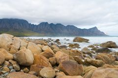 Kogel Bay Beach, located along Route 44 in the eastern part of False Bay near Cape Town, South Africa stock photos